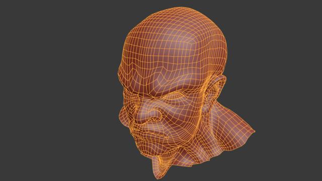 Ossan Head(retopo)